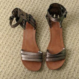 Dolce Vita Metallic Pewter Gladiator Sandals
